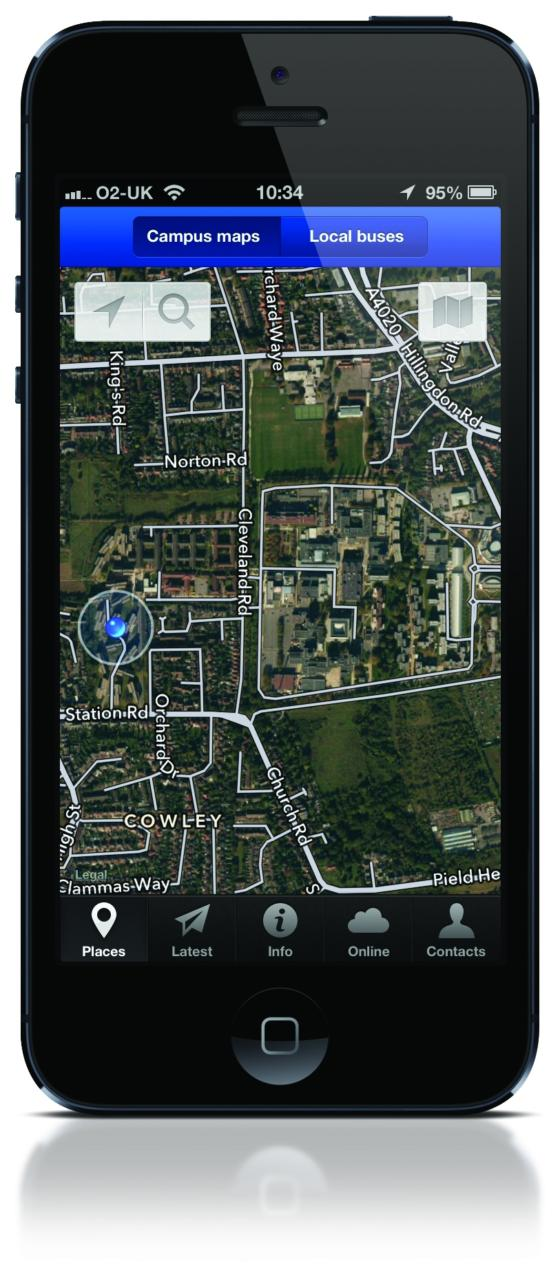 Screenshot Devicerobert huntcreating an iphone app for brunel university